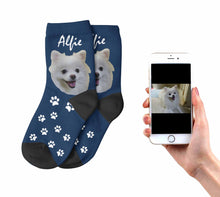 Load image into Gallery viewer, Kids  Personalized Dog Socks