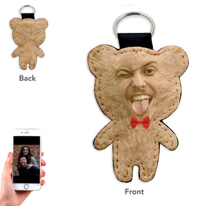 Personalized Bear Keyring For Him