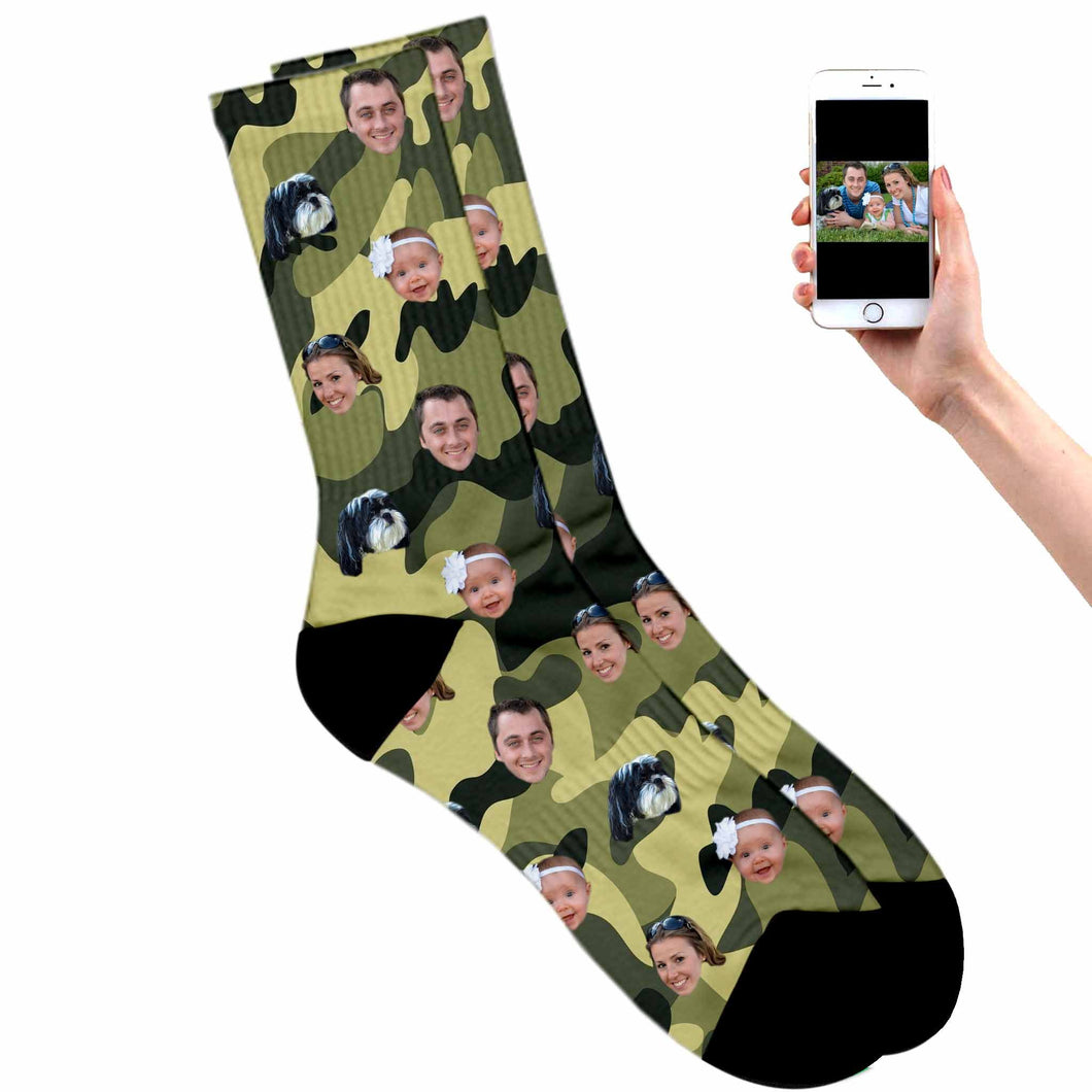 Custom Camouflage Socks