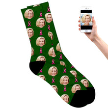 Load image into Gallery viewer, Personalized Breast Cancer Socks