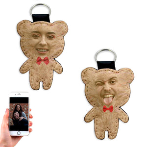 Personalized His & Her's Bear Keyring