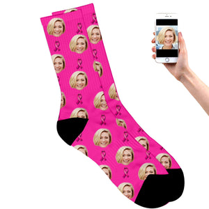 Personalized Breast Cancer Socks