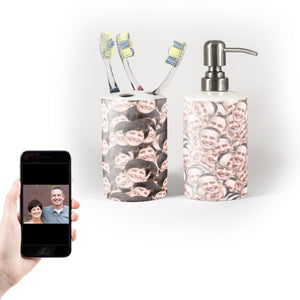 Mr and Mrs Soap & Toothbrush Holder Set