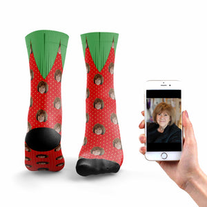 Personalized Strawberry Socks