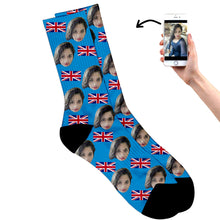 Load image into Gallery viewer, British Face Socks