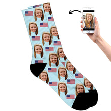 Load image into Gallery viewer, United States Face Socks