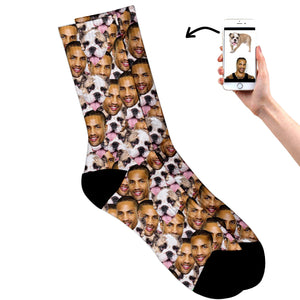 Multi Face Dog & Owner Socks