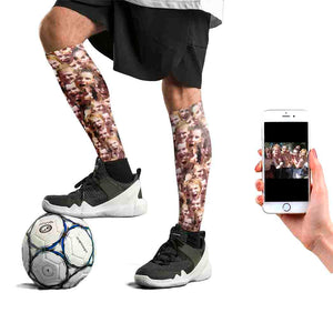 Multi Face Football Socks