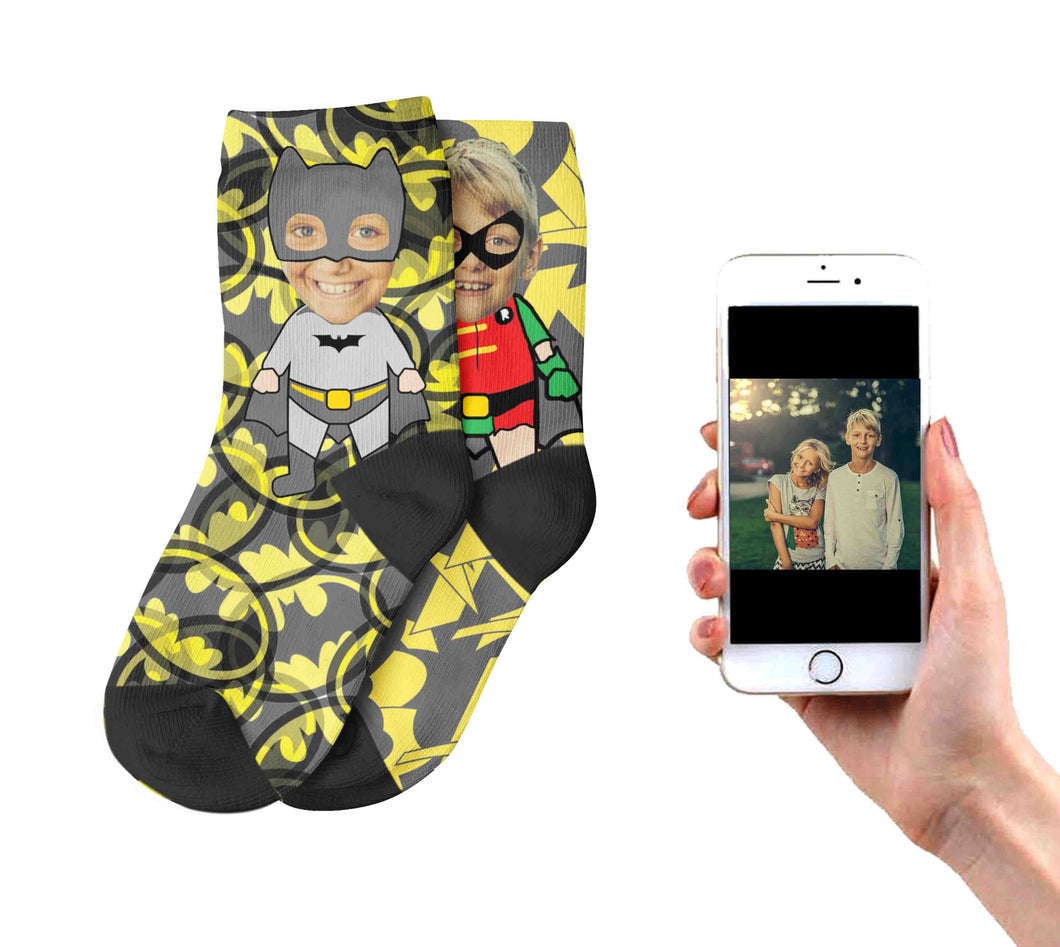 Kids Batman And Robin Socks
