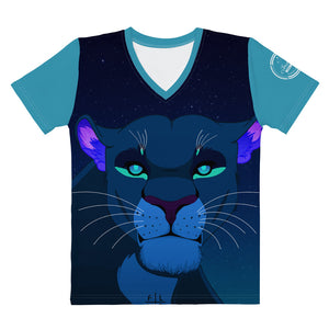 The Night Lioness V-neck