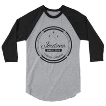 Load image into Gallery viewer, FBJ Crest 3/4 sleeve raglan shirt