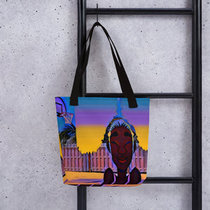 Made Out Of The Sunrise Courtside Tote bag