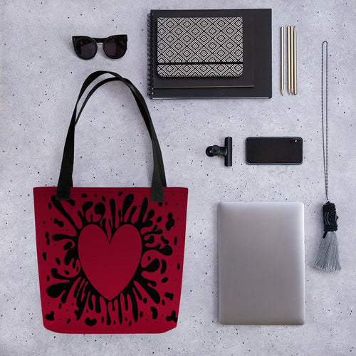 Heart Of Hearts Red Tote bag