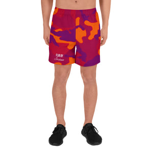 FLVR By Jordana Men's Camo Athletic Long Shorts