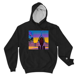 FLVR By Jordana Made Out Of The Sunrise Courtside Boyfriend Sized Champion Hoodie