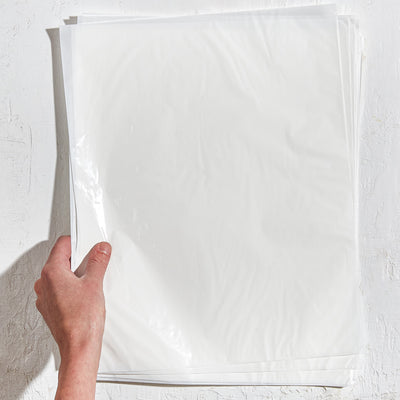White Cellophane Sheets