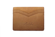 Load image into Gallery viewer, LAKE; Camel Leather Cardholder