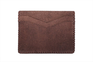 LAKE; Camel Leather Cardholder
