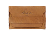 Load image into Gallery viewer, CARDU; Handmade Camel Leather Cardholder