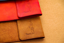 Load image into Gallery viewer, MNAWRAH Portfolio; Handmade Camel Leather
