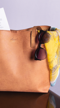 Load image into Gallery viewer, YAS; Handmade Camel Leather Tote Bag