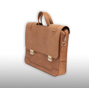 MIRDIF; Camel Leather Office Bag