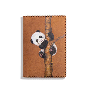 HAND PAINTED PASSPORT HOLDER (PANDA)