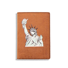 Load image into Gallery viewer, HAND PAINTED PASSPORT HOLDER (LIBERTY STATUE)
