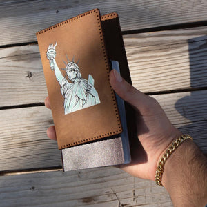 HAND PAINTED PASSPORT HOLDER (LIBERTY STATUE)