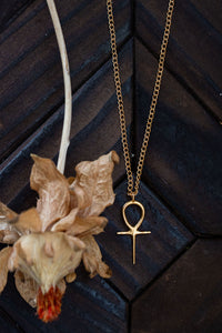 Golden Sacred Ankh Necklace
