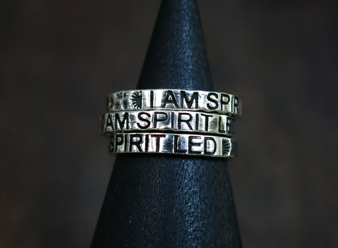 I Am Spirit Led- Stacker Ring