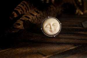 Moon Mama- Size 9 Sterling Silver Ring