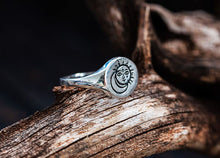 Celestial Sun and Moon Sterling silver Signet Ring