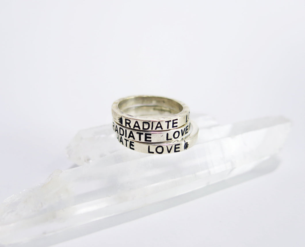 Radiate Love- Stacker Ring