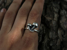 Pick your Size- Mushroom Patch Sterling Silver Ring