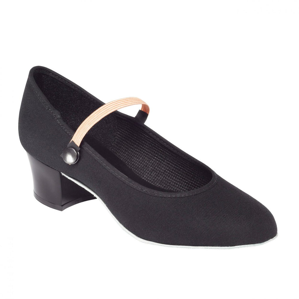 Canvas Character Cuban Heel Shoe
