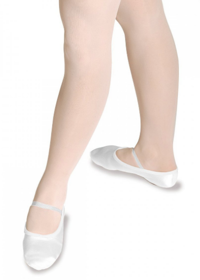 Satin Ballet Shoes - White only