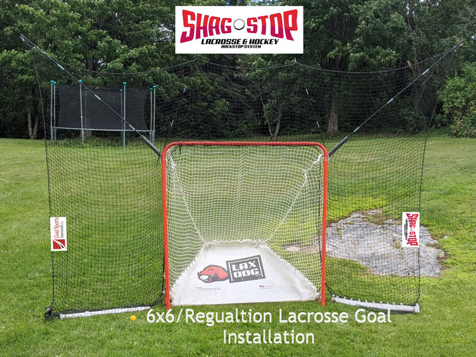 Shag Stop - Lacrosse and Hockey Goal Mounted Portable Backstop System