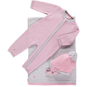 Scarlet Ribbon Merino Daysuit Baby Gift Set - Rose