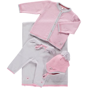 Scarlet Ribbon Cardigan & Leggings Baby Gift Set - Rose