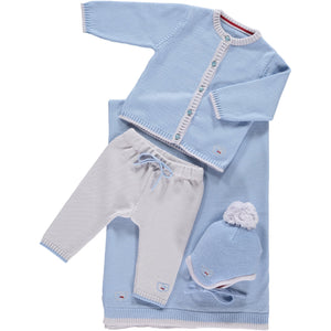 Scarlet Ribbon Cardigan & Leggings Baby Gift Set - Beau Blue