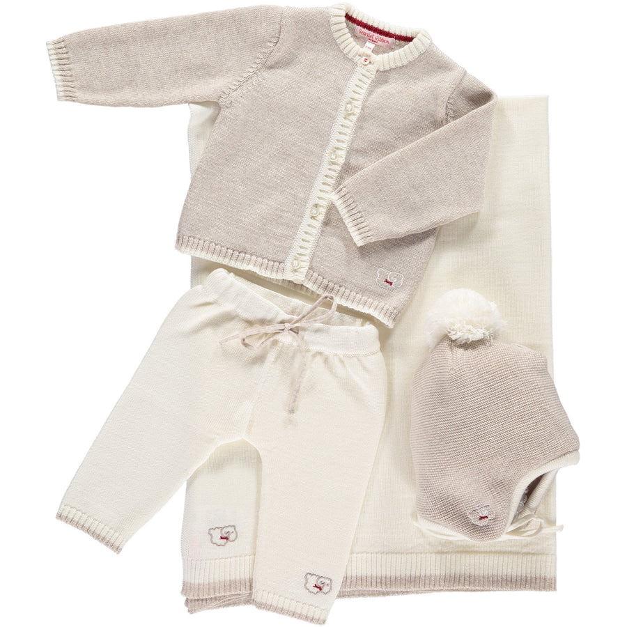 Scarlet Ribbon Cardigan & Leggings Baby Gift Set - Oatmeal