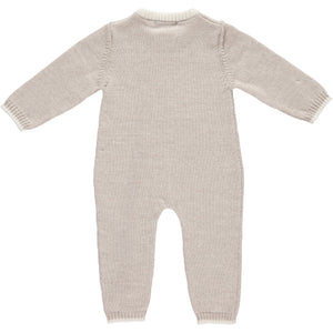 Merino Zip-Up Baby Daysuit - Oatmeal