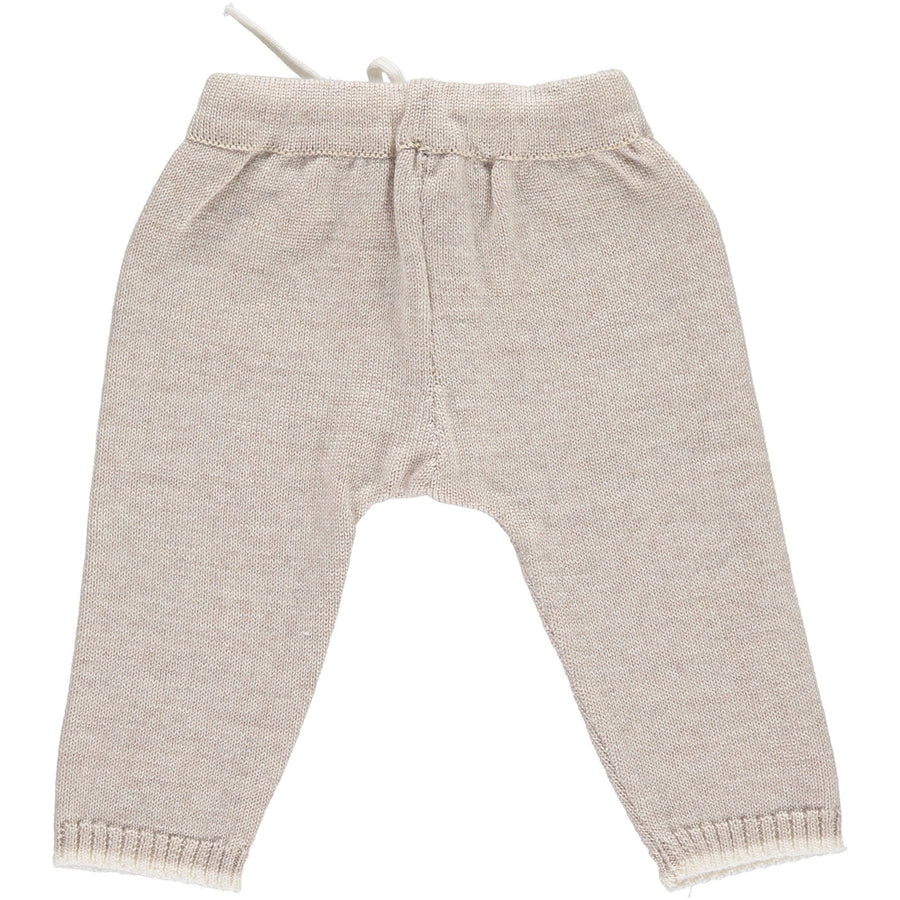 Merino Knitted Baby Leggings - Oatmeal