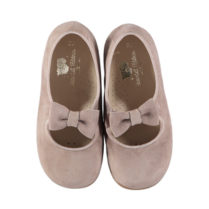 First Steps Sophia Bow Shoes - Taupe