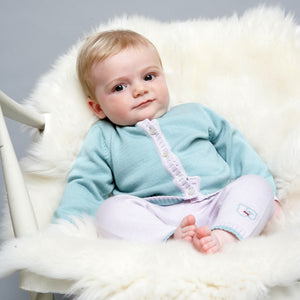 Merino Baby Cardigan & Leggings Set - Sage