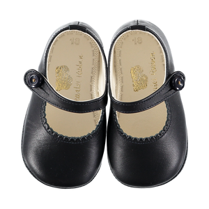 Soft Leather Baby 'Lucy' Shoes - Dark Blue