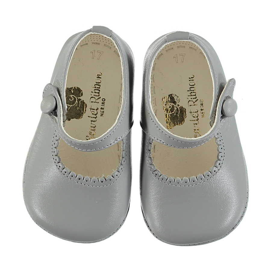 Soft Leather Baby 'Lucy' Shoes - Perla