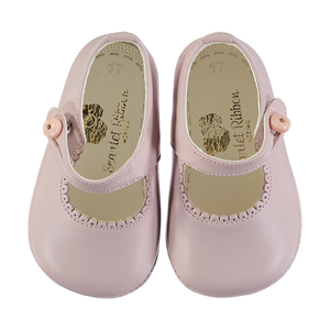 Soft Leather Baby 'Lucy' Shoes - Rosa