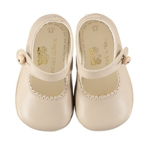 Soft Leather Baby 'Lucy' Shoes - Sand
